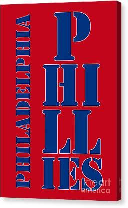 Philadelphia Phillies Typography Canvas Print by Pablo Franchi
