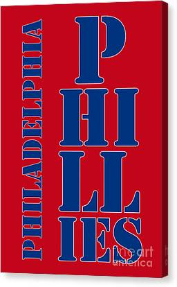 Philadelphia Phillies Typography Canvas Print by Pablo Franchi