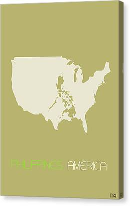 Philippines America Poster Canvas Print by Naxart Studio