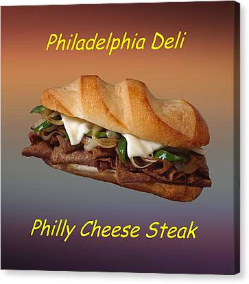 Philly Cheese Steak Customized  Canvas Print by Movie Poster Prints