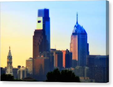 Philly Morning Canvas Print by Bill Cannon