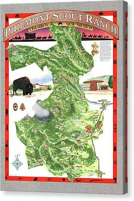 Philmont Scout Ranch Poster Art Canvas Print by Philippe Plouchart