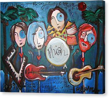 Phish At Big Cypress Canvas Print by Laurie Maves ART