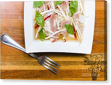 Pho Lao Style Noodle Soup Canvas Print by Jorgo Photography - Wall Art Gallery