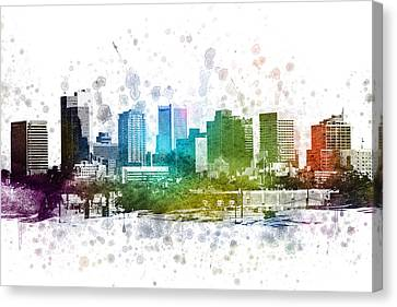 Phoenix Arizona In Color 02 Canvas Print by Aged Pixel