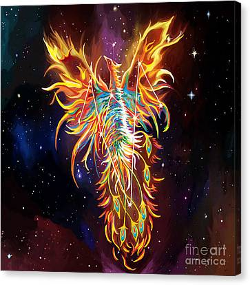 Phoenix Rising Constellation Canvas Print by Jackie Case