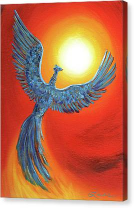 Phoenix Rising Canvas Print by Laura Iverson