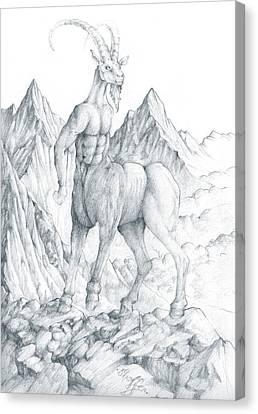 Pholus The Centauras Canvas Print by Curtiss Shaffer