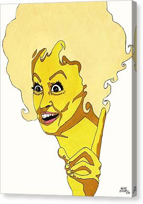 Phyllis Diller Pop Art Canvas Print by Bruce Lennon