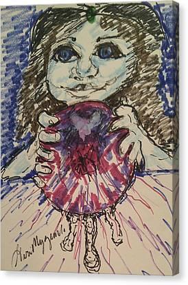 Physic Reader Canvas Print by Geraldine Myszenski