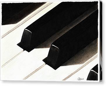 Piano Keys Canvas Print by Jeanne Delage