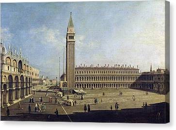 Piazza San Marco Venice  Canvas Print by Canaletto