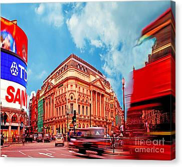 Piccadilly Circus London Canvas Print by Chris Smith