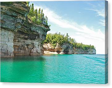 Pictured Rocks Canvas Print by Michael Peychich