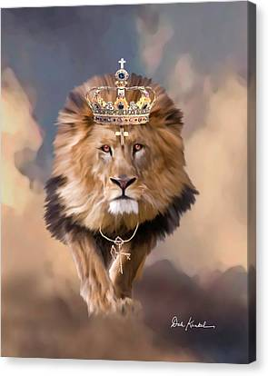 Pictures Of Jesus - Christian Religious Art Lion Of Judah Canvas Print by Dale Kunkel Art