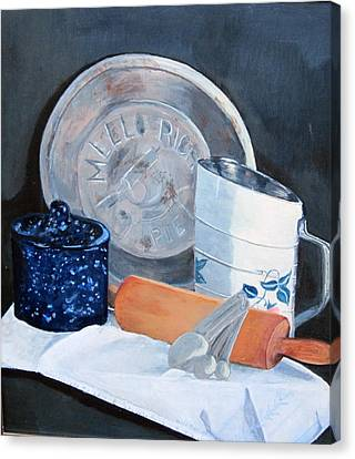 Pie Baking Canvas Print by Paula Pagliughi