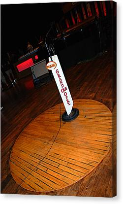 Piece Of The Original Old Stage At The Grand Ole Opry In Nashville Canvas Print by Susanne Van Hulst
