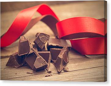 Pieces Of Chocolate Bar Canvas Print by Nadezhda Tikhaia