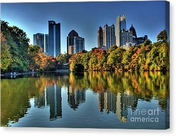 Piedmont Park Atlanta City View Canvas Print by Corky Willis Atlanta Photography