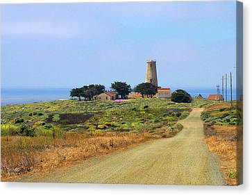 Piedras Blancas Historic Light Station - Outstanding Natural Area Central California Canvas Print by Christine Till