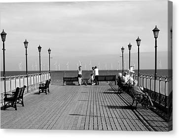 Pier End View At Skegness Canvas Print by Rod Johnson