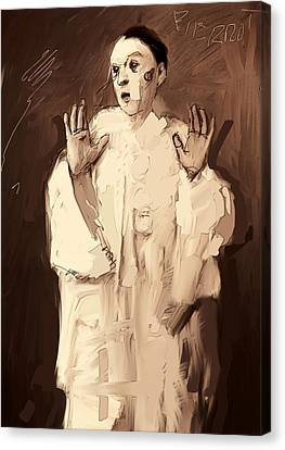 Pierrot Canvas Print by H James Hoff