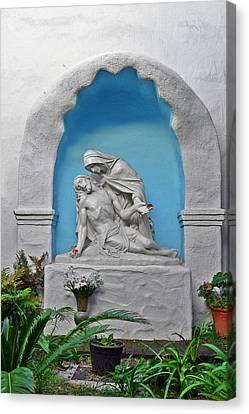 Pieta Garden Mission Diego De Alcala Canvas Print by Christine Till