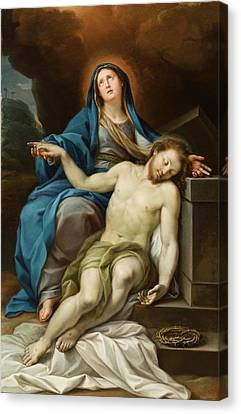 Pieta Canvas Print by Italian School