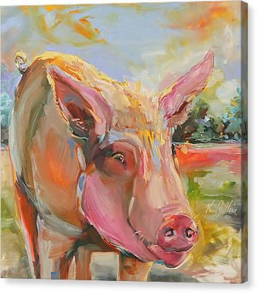 Pig Latin Canvas Print by Kim Guthrie