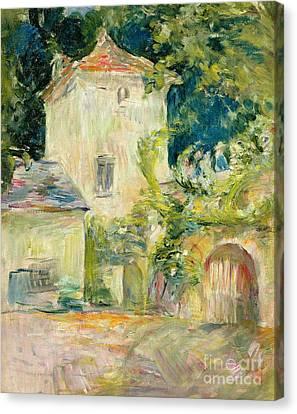 Pigeon Loft At The Chateau Du Mesnil Canvas Print by Berthe Morisot