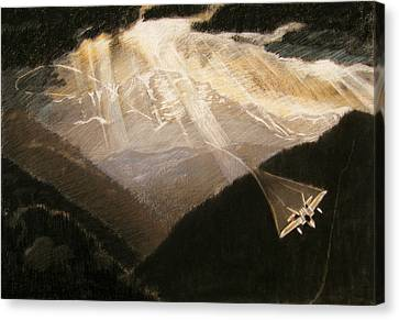 Pikes Peak Flight Canvas Print by Nils Beasley