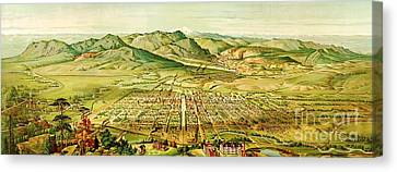 Pikes Peak Panorama Canvas Print by Pg Reproductions