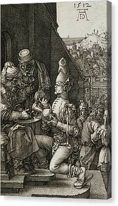 Pilate Washing His Hands Canvas Print by Albrecht Durer