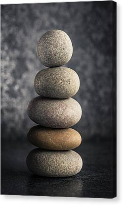 Pile Of Pebbles Canvas Print by Marco Oliveira