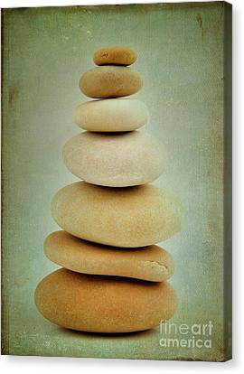 Pile Of Stones Canvas Print by Bernard Jaubert