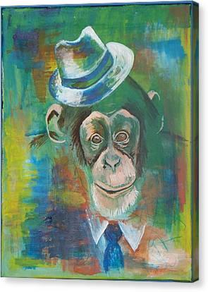 Pimpanzee Canvas Print by Reuben Cheatem