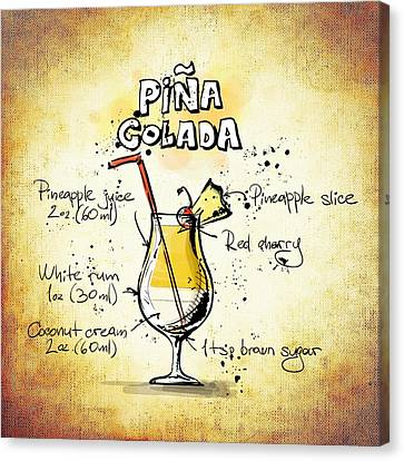Pina Colada  Canvas Print by Movie Poster Prints