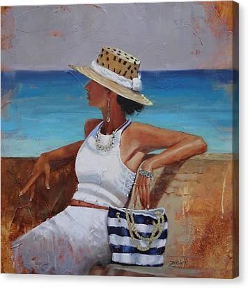 Pina Colada Please Canvas Print by Laura Lee Zanghetti