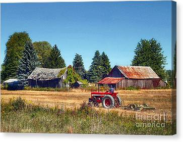 Pinconning Farm Canvas Print by Jeff Holbrook