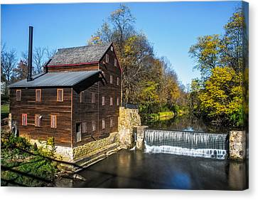 Pine Creek Grist Mill Canvas Print by Paul Freidlund