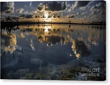 Pine Glades Lake Canvas Print by Richard Smukler