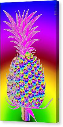 Pineapple Canvas Print by Eric Edelman