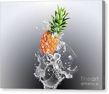 Pineapple Splash Canvas Print by Marvin Blaine