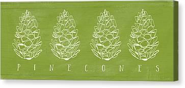 Pinecones-art By Linda Woods Canvas Print by Linda Woods