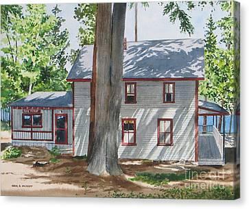 Pinehurst Cottage Canvas Print by Karol Wyckoff