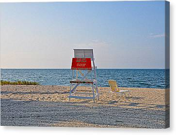 Piney Point Beach Canvas Print by Bill Cannon