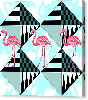 Ping Flamingo Canvas Print by Mark Ashkenazi