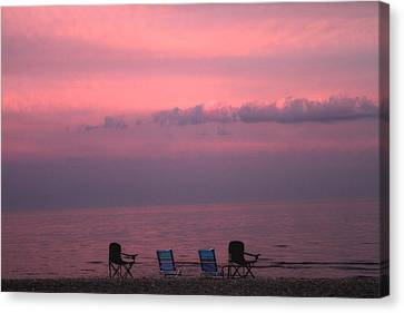 Pink And Deserted Canvas Print by Karol Livote