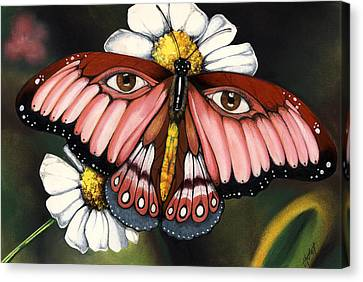 Pink Butterfly Canvas Print by Anthony Burks Sr