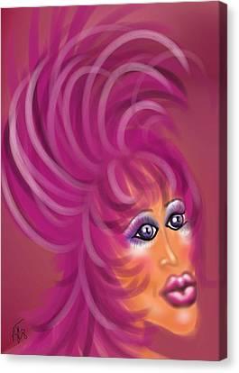 Pink Flamingo Canvas Print by Ronald Terrel